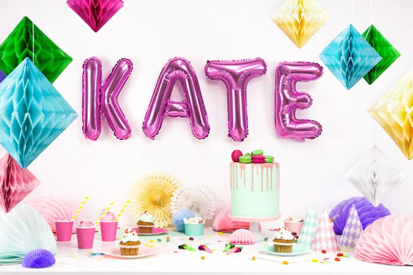 An deinem Geburtstag bist du der Star - also her mit den Buchstabenballons!