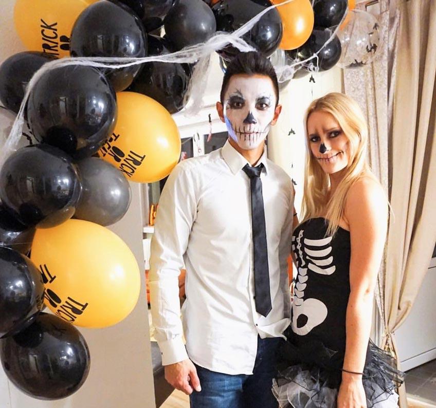 Tolle Ballongirlande zu Halloween (c) myboys_and_i