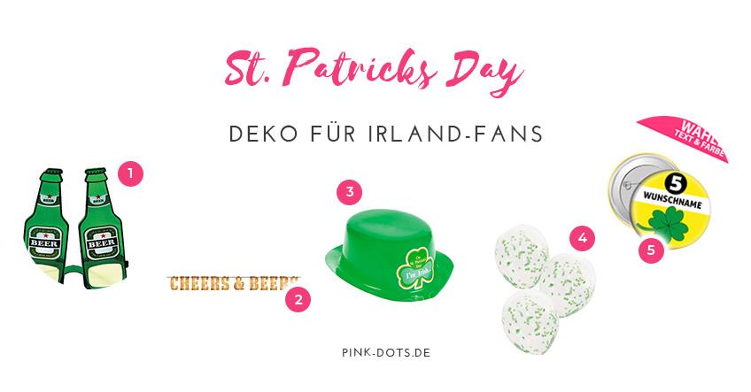 Hier sind unsere Deko Tipps zu St. Patrick's Day