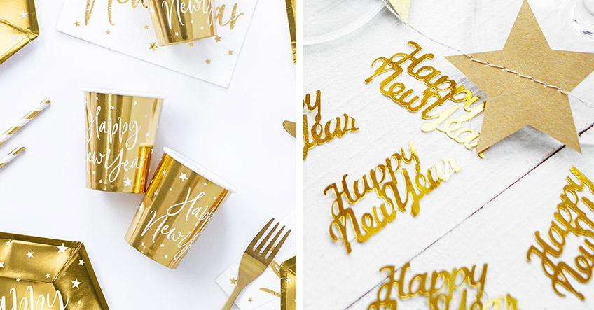 Mach Silvester golden - vom Partygeschirr bis zur Tischdeko