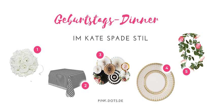 Shop den Look nach mit Deko fürs Geburtstagsdinner aus dem Pink-Dots-Shop :)