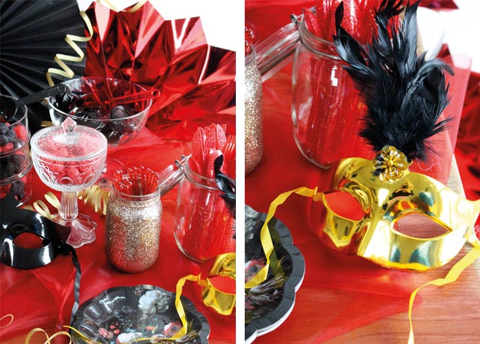Pompöser Sweet Table zum Silvester-Maskenball (c) Mareike Winter - Biskuitwerkstatt