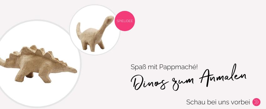 Dinos aus Pappmaché bemalen ist ein tolles Spiel für die Dinoparty - hol dir hier die Dinos