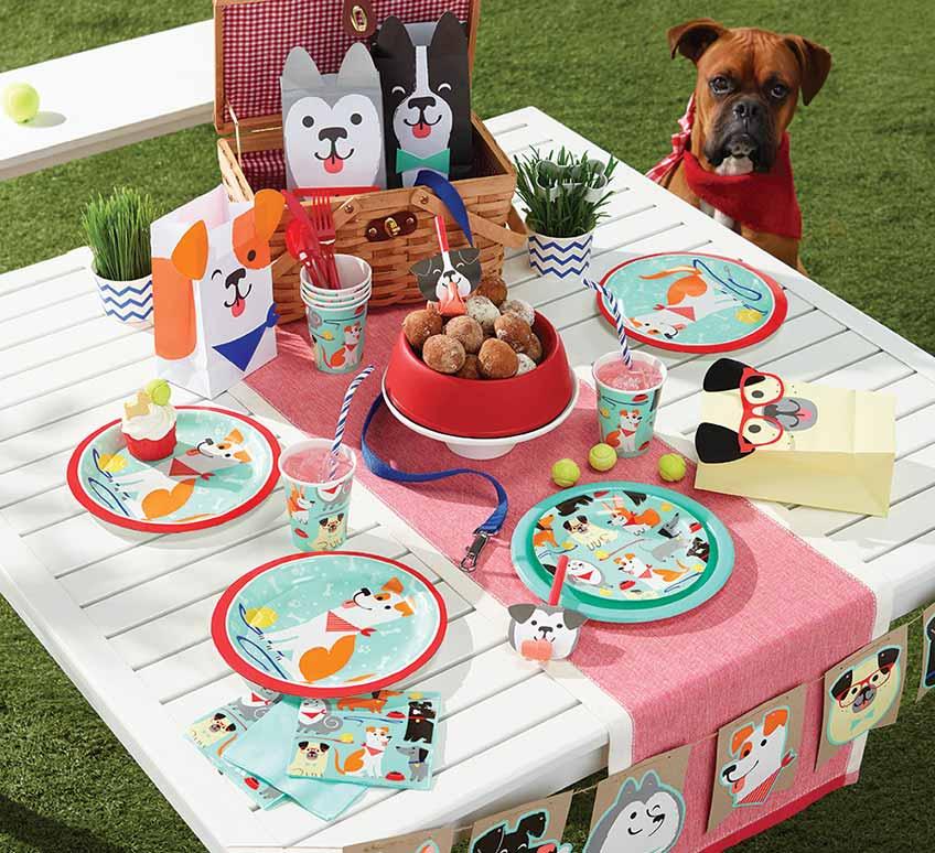 Die Hundeparty kann kommen - Deko für den Kindergeburtstag mit Hundemotiv