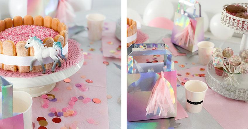 Fluffiger Sweet Table mit traumhaften Einhorn-Naschereien © Lusiluup