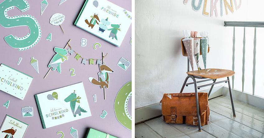 Erinnerungsalben und Freundebücher mit lustigen Motiven sind tolle Geschenke zur Einschulung