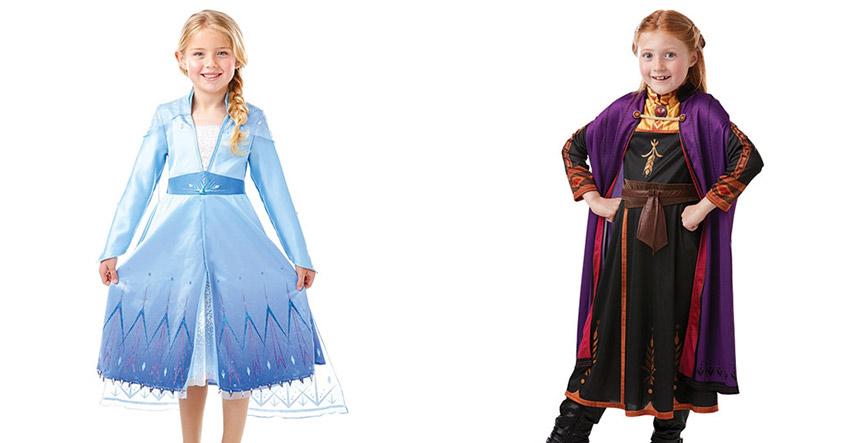"""Mit Kostümen für Kinder verwandeln sich die Kids sofort in Anna und Elsa aus """"Die Eiskönigin"""""""