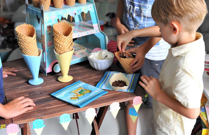 Der Eisstand ist ein Hit zur Einschulung und zum Kindergeburtstag