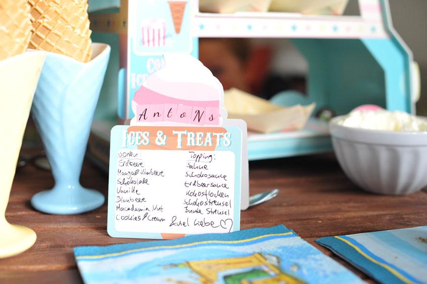 Eisstation für zu Hause - Gib eine Übersicht über dein leckeres Angebot