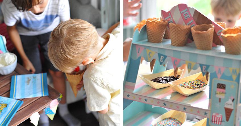 Eisstand zum Geburtstag oder zur Einschulung - eine tolle Mitmach-Idee