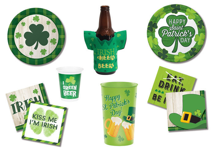 Irische Party-Dekoration zum St. Patrick's Day aus dem Pink Dots Partystore
