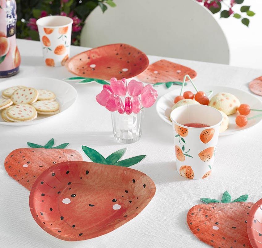 Süße Erdbeeren als Deko-Motiv erschaffen sofort Sommergefühle