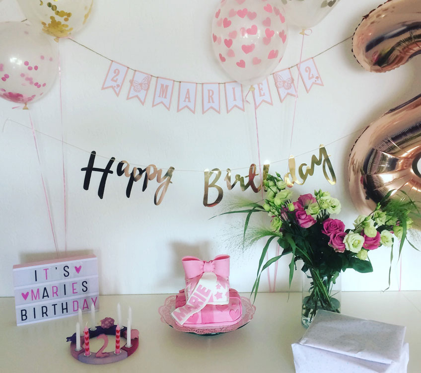 Ein bisschen Geburtstagsdeko peppt Raum und Stimmung zum Kindergeburtstag auf