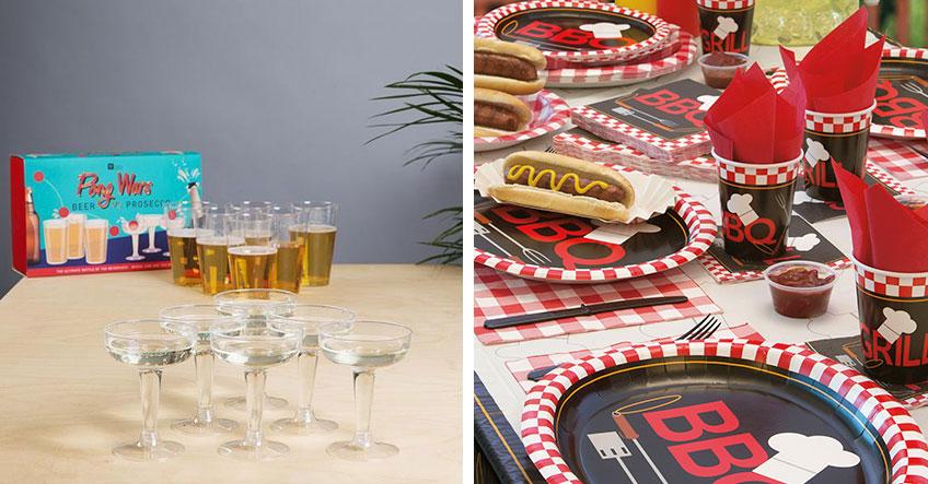 """""""Beer & Prosecco Pong"""" und ein gemütlicher Tisch zum Beisammensein - perfekt für die Grillparty"""