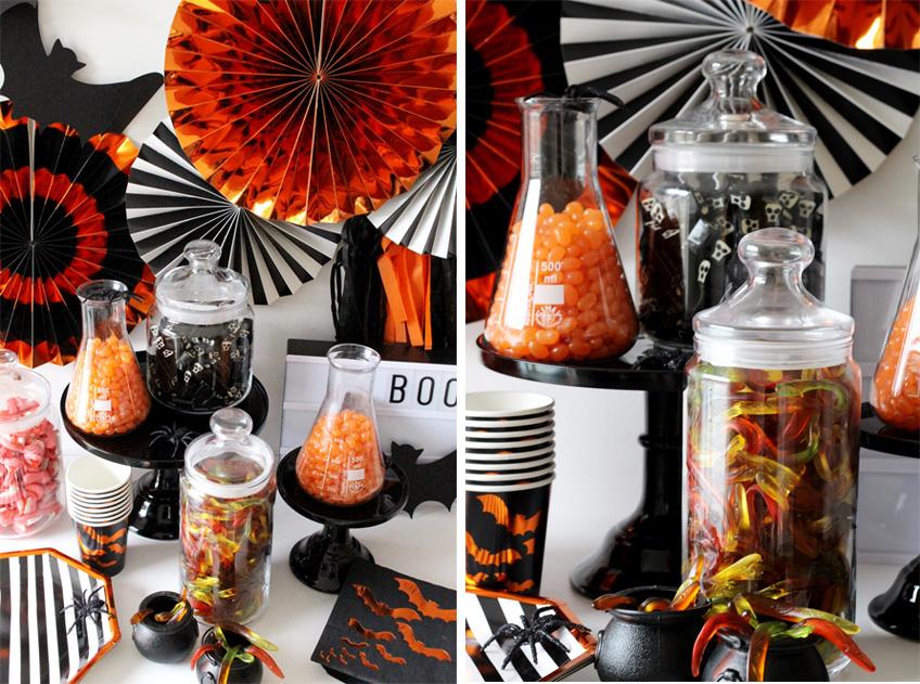 Besondere Details in der Halloween Candy Bar verzaubern eure Gäste