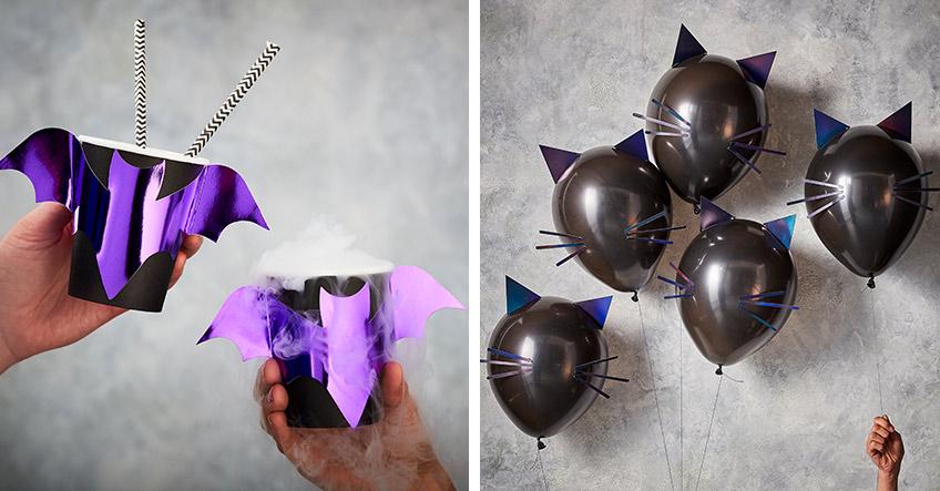 Halloween-Deko für Erwachsene mit Metallic-Effekten