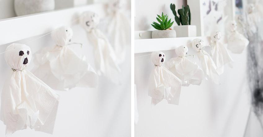 DIY-Taschentuch Gespenster - leicht selbstgemacht zu Halloween (c) delari.de