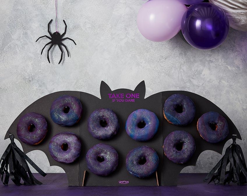 Originell - Die Donutwand-Fledermaus für Halloween
