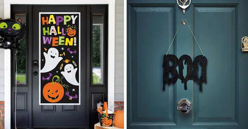 Tür- und Fensterdeko tauchen Haus & Garten zu Halloween in die richtige Stimmung