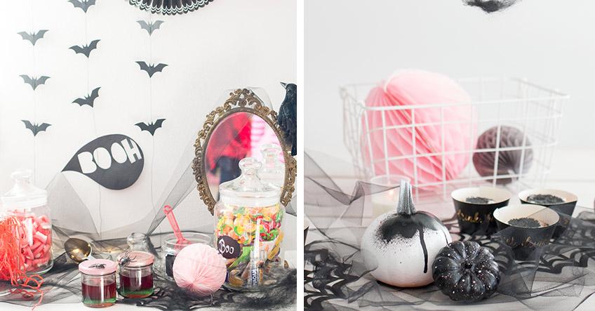 Süße Deko in Rosa zu Halloween (c) delari.de