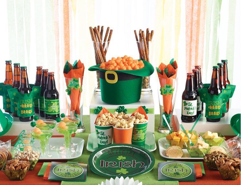 Grün muss die Deko zu St. Patrick's Day sein!