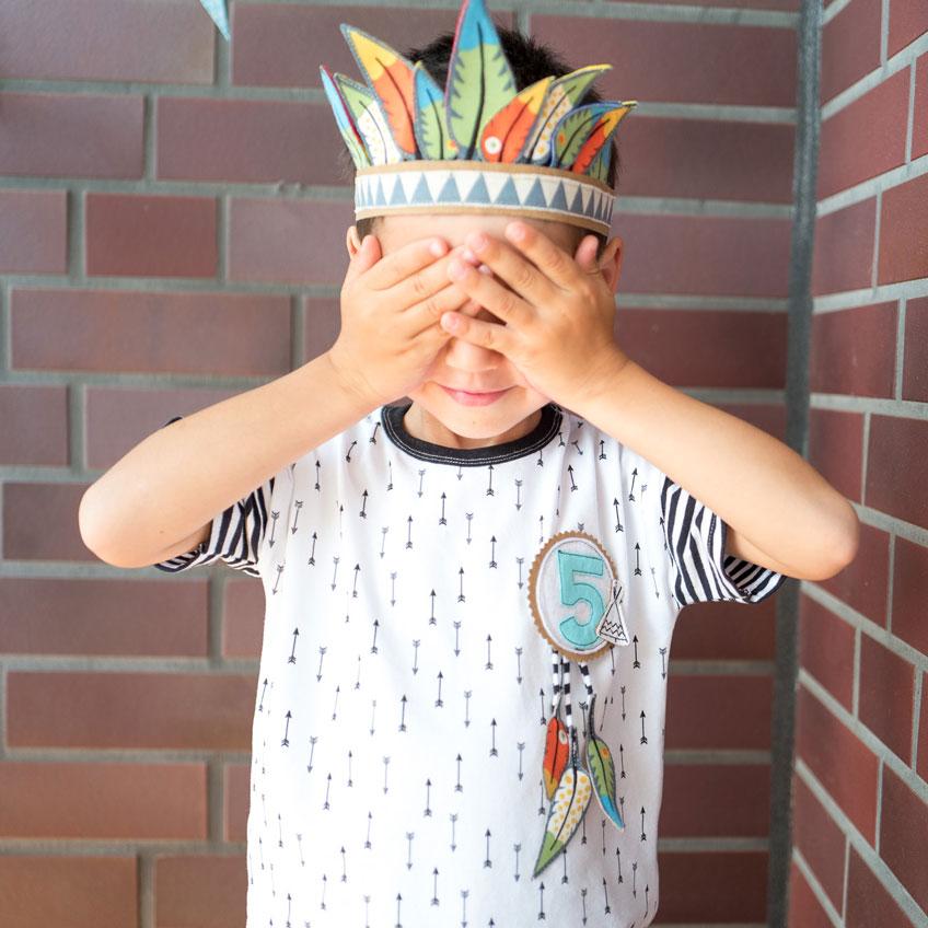 Feier einen Mottogeburtstag mit Indianer-Spielen und toller Deko (c) mamigurumi