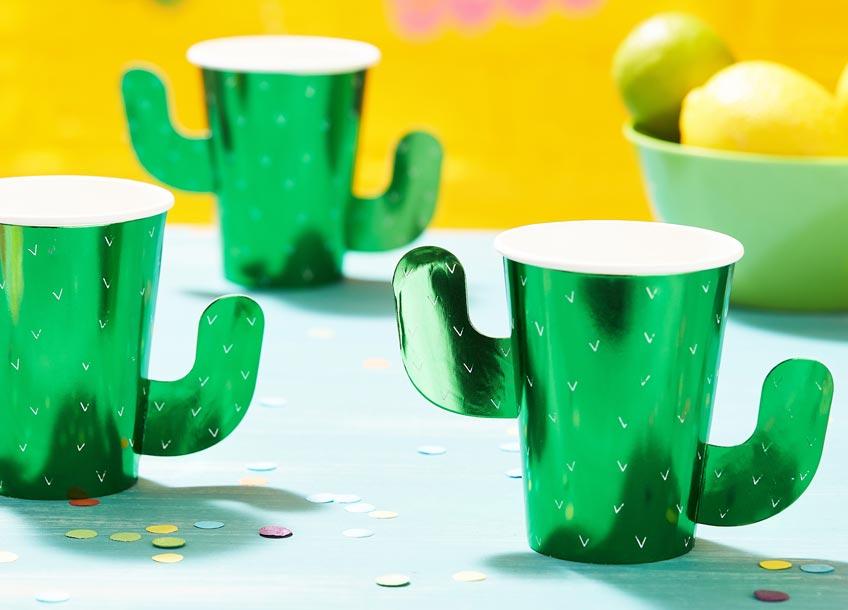 Kaktus-Party - nicht ohne Becher in passender Gestalt :)