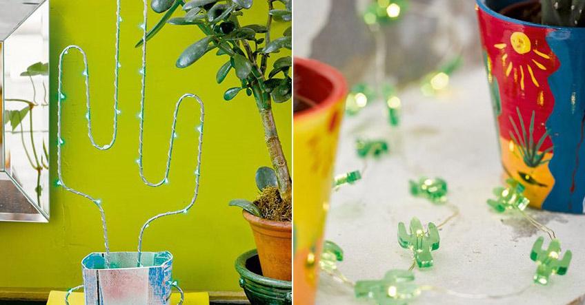 Kaktus-LED-Deko - die kann den ganzen Sommer hängen bleiben!