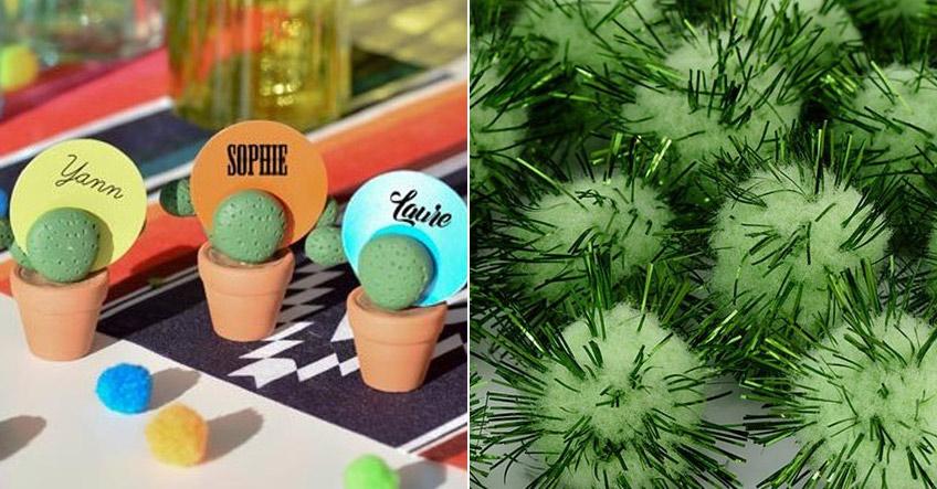 Kaktus-Tischdeko liegt voll im Trend für sommerliche Anlässe
