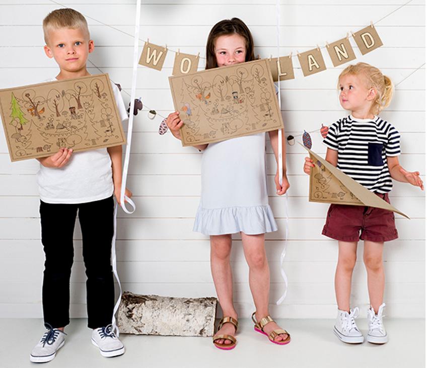 Woodland-Deko selber basteln auf dem Kindergeburtstag
