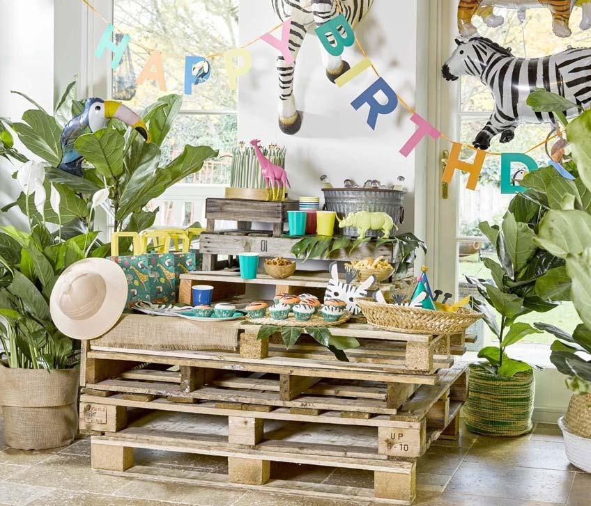 Mach es grün und natürlich - mit toller Safari Partydeko
