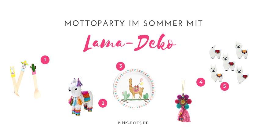 Unsere Deko-Tipps für deine Lama-Deko im Sommer