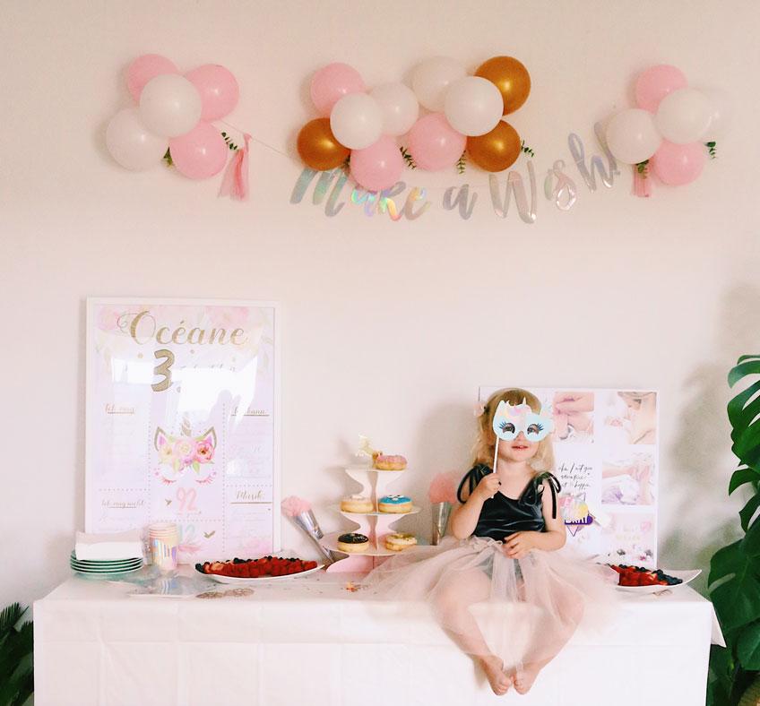 Ein Mädchengeburtstag mit schillernder Einhorndeko © Foxes Heartbeat