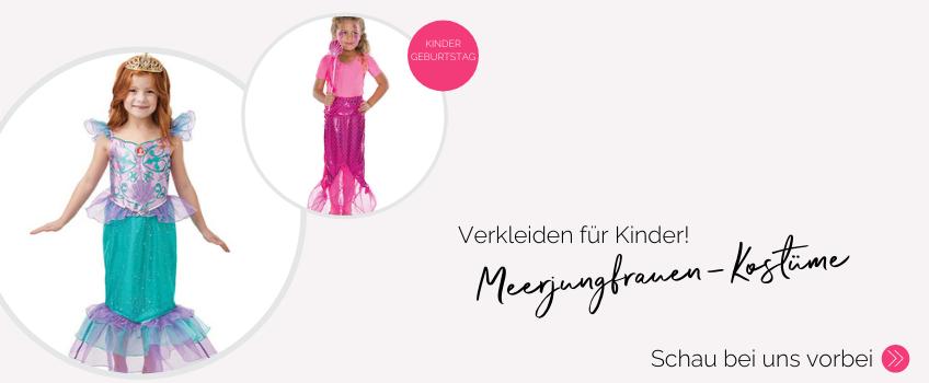 Einmal wie eine richtige Meerjungfrau fühlen - mit unseren Kostümen verwandeln sich die Kids in Arielle und Co.