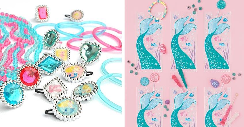 Mach deinen Gästen eine Freude mit Mitgebseln zum Meerjungfrauen-Kindergeburtstag
