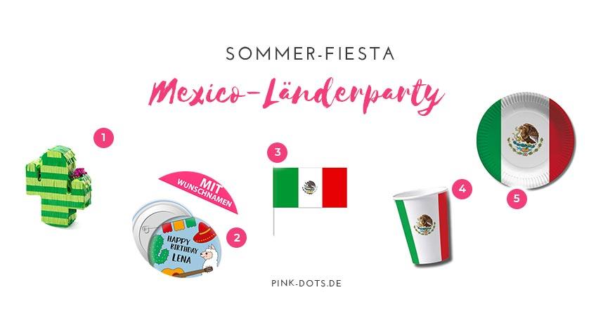 Deko in Mexiko-Farben für die Länderparty gibt es bei uns im Shop :)