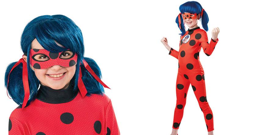 Mit dem Kinderkostüm verwandelt sich dein Kind in die Heldin Ladybug