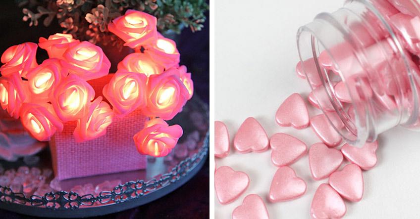 Süßigkeiten und Blumen mal anders: Als schöne LED-Rosen