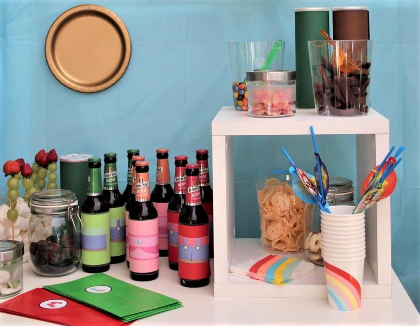 Deko-Ideen für deinen Super Mario Sweet Table findest du auf dem Blog!