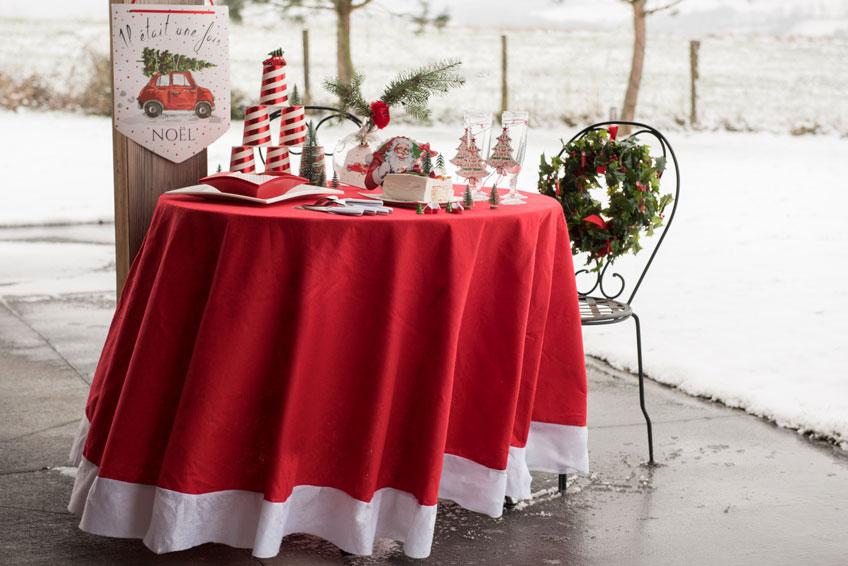 Tolle Weihnachts-Tischdecke - So entsteht Festtagsgefühl