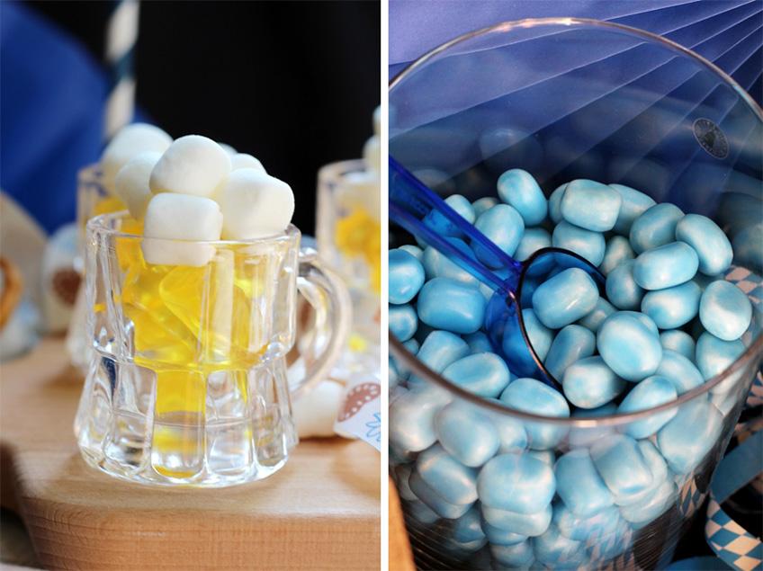 Passend zum Oktoberfest: süßer Maßkrug und blaue Drops (c) Mareike Winter - Biskuitwerkstatt
