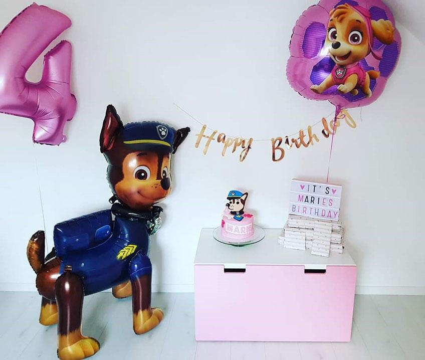 Die Paw Patrol macht sich als Deko auch in Pink und Co. gut (c) caro_und_reisemaus