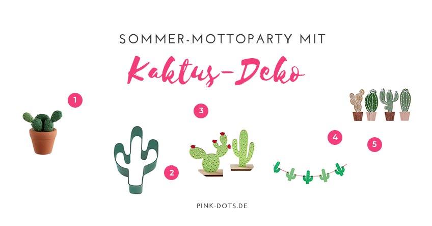 Unsere Top-Tipps für deine Kaktus-Deko im Sommer
