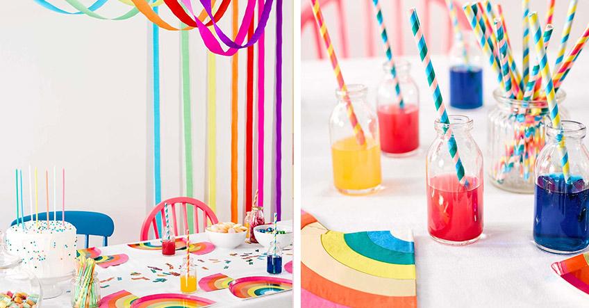 Kreativ und knallig - bunte Regenbogen-Deko