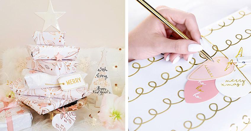 Rosa Weihnachten - auch die Geschenke müssen richtig verpackt sein (c) lxoxndxoxn