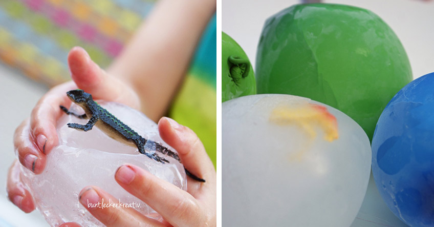 Eingefrorene Tiere - ein leichtes DIY für die Party mit Tiermotto (c) bunt.lecker.kreativ