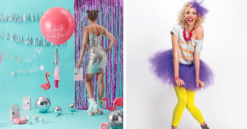 Feier Silvester ganz crazy mit 80er-Disco-Motto und passender Deko