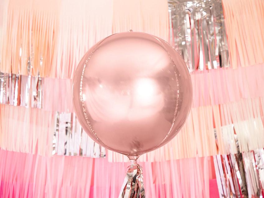 Rosegold ist der Hit zu Silvester - bei Folienballons und überhaupt