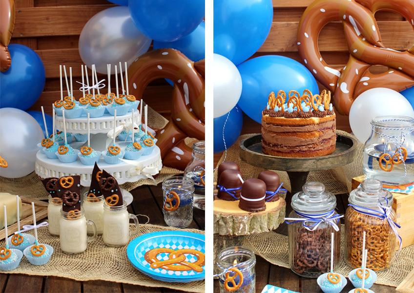 Auf dem Oktoberfest Sweet Table findet sich eine tolle Kombination aus Süßem und Salzigem (c) Mareike Winter - Biskuitwerkstatt