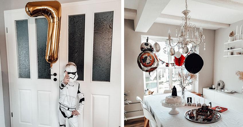 Kinderkostüme und Star-Wars-Deko machen MÄCHTIGEN Eindruck auf der Mottoparty (c) dani_lovesschnubbsi